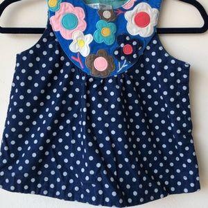 Boden Baby Corduroy Flower & Polka Dots Dress